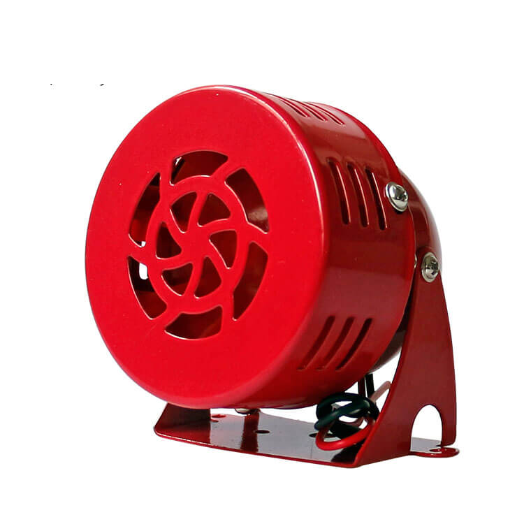 تصویر یک آژیر سیرن به رنگ قرمز است که پس زمینه ای سفید دارد.