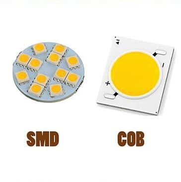 تصویری از شیار لامپ اس ام دی و سی او بی را با پس زمینه سفید نشان می دهد