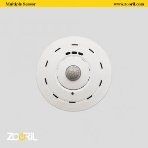 تصویری از یک سنسور نور خانه هوشمند در یک صفحه سفید متعلق به خانه هوشمند زوریل
