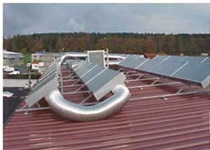 انرژی خورشیدی و هوا گرم کن خورشیدی در ساختمان هوشمند