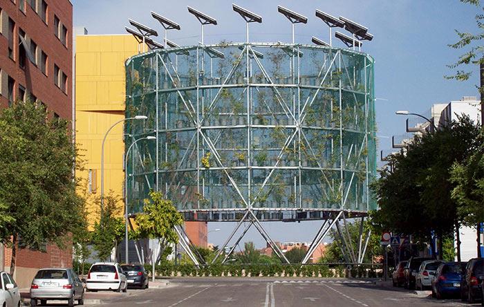 معماری پایدار در درخت هوایی اسپانیا