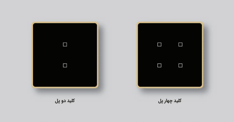 کلید دو پل و چهارپل هوشمند لمسی زوریل