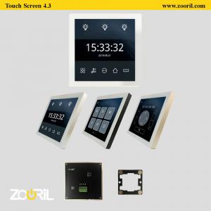 تصاویری از تمام محصولات خانه هوشمند زوریل شامل تاچ پنل ها و کلید های هوشمند