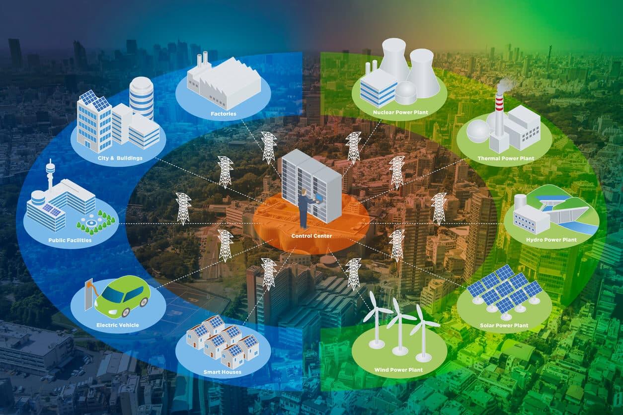 تصویر کاربردهای اینترنت اشیا در حوزه های مختلف را نشان می دهد.