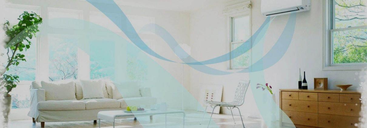 تصویری از تهویه هوای هوشمند در بخش داخلی ساختمان که در آن تعدادی صندلی و سیستم سرمایشی گرمایشی وجود دارد را نشان می دهد.