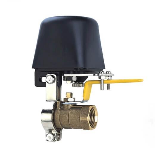 تصویری از شیر برقی گاز یا سلونوئید ولو گاز است که یک کلاهک مشکی روی آن قرار دارد.